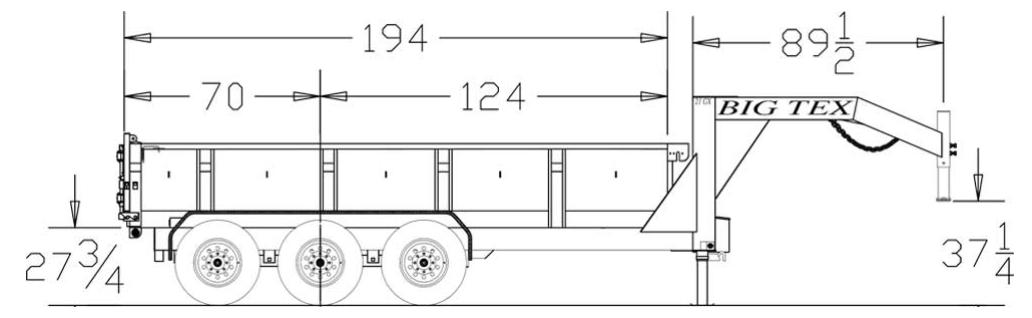 21gx triple axle extra wide gooseneck dump trailer trailers