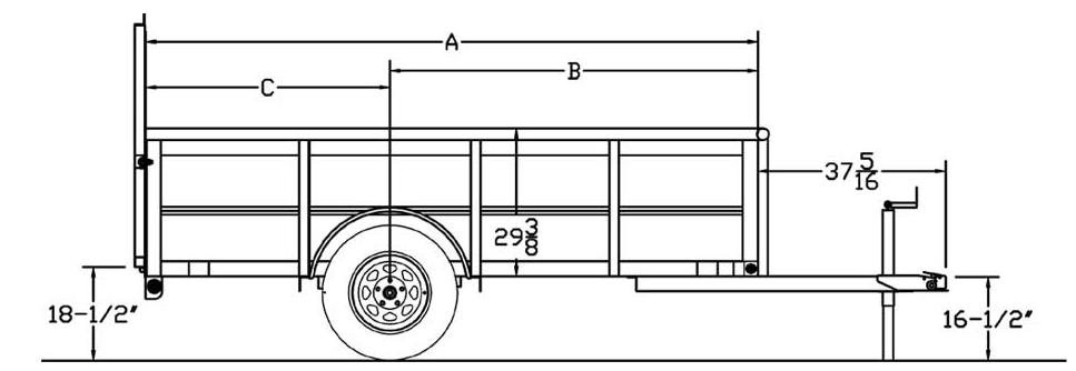 30sv  35sv single axle vanguard trailer  trailers  burgoon